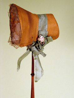 Lady's Straw Bonnet, Late 1820s -