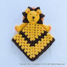 Lion Lovey / Security Blanket Crochet Pattern