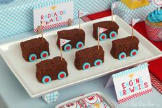 Brownies at a Race car party #racecar #partyfood