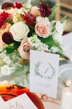 Burgundy, coral, blush, and white bouquet - beautiful wedding reception centerpiece! Burgundy Bouquet, Blush Bouquet, White Centerpiece, Flower Centerpieces, Autumn Inspiration, Color Inspiration, Winery Wedding Venues, Wedding Colors, Wedding Flowers