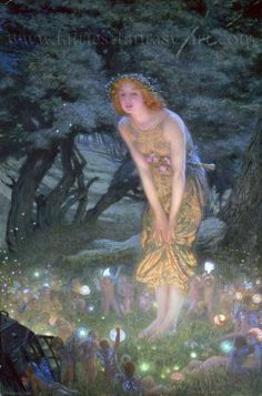 Fairy Art: Introduction to fairy mythology and its impact on children's literature. (Myths are made-up stories to explain things in nature.)