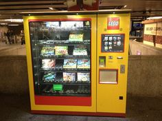 There exists a vending machine the Munich train station just for Legos