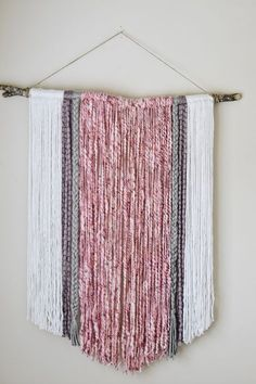I really wanted a large statement piece to hang behind McKinley's bed. After some thought,I came up with the idea to doa wall hangingwith yarn. Originally I was going to do a macramé hanging but I just could not find the time. This DIY Yarn Wall Art can be done in a hour and achieves...Read More » »