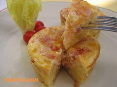 Quiche española con jamón y queso