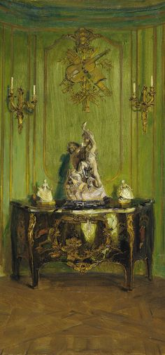The Green Salon by Walter Gay  (American, 1856–1937) 1912 Oil on canvas