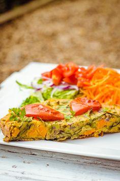 Sweet Potato + Paprika Spanish Omelette (Gluten Free, Soy Free, Dairy Free) | GoodnessGreen