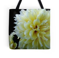 Tote Bag - Yellow Dahlia from A Gardener's Notebook by Douglas E.  Welch