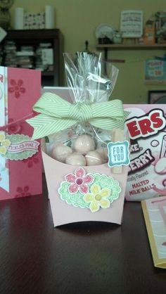 Flamingo Lingo Stamp Camp Fry Box treat