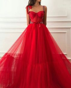 Vintage Red Prom Dress Tulle Cheap Long A Line Prom Dress, Shop plus-sized prom dresses for curvy figures and plus-size party dresses. Ball gowns for prom in plus sizes and short plus-sized prom dresses for Elegant Party Dresses, A Line Prom Dresses, Tulle Prom Dress, Pretty Dresses, Beautiful Dresses, Evening Dresses, Sexy Dresses, Red Gown Prom, Long Dresses