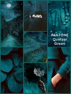 PANTONE Quetzal Green…what a gorgeous dark teal - Alles über Dekoration Teal Colors, Room Colors, House Colors, Teal Green Color, Gold Colour, Paint Colours, Blue Green, Colour Schemes, Color Trends
