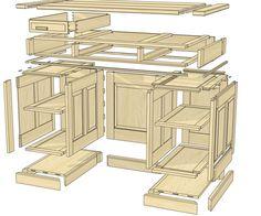 woodworking plans pedestal desk