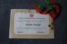 Com muita honra fui empossado como membro correspondente do Núcleo Acadêmico de Letras e Artes de Lisboa.