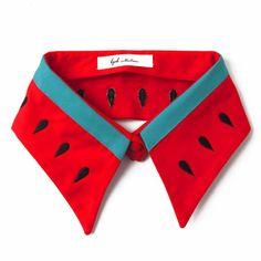Quirky watermelon statement collar