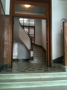 Entrance, Stairs, Mirror, Architecture, Hallways, Furniture, Buildings, Engineering, Memories