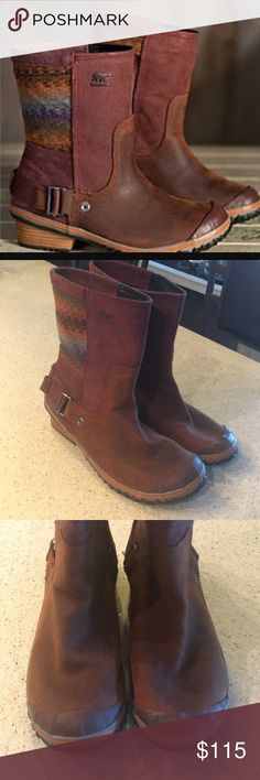 Sorel slim shortie brown waterproof boots size 9.5 The best boots! Sorel slim shortie waterproof boots. These are a size 9.5 and fit true to size. Sorel Shoes Winter & Rain Boots