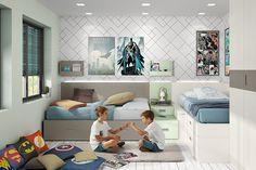 Camas cruzadas,la opción para dormitorios compartidos