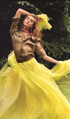 """""""This Collection is exotic in its luxury, a look emboldened by luminous colors."""" – Ralph Lauren on his Spring 2015 Collection"""