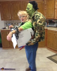 Zombie Kidnap Illusion Halloween Costume Idea