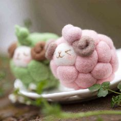Fieltro de lana bordados bordado aguja batanado Kit Animal