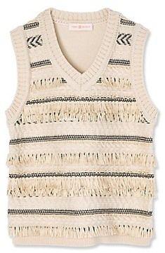 Tory Burch Jacquard Sweater Vest