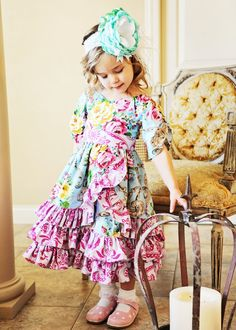 SALE..Buy 2 get 1 free..Victorian Romance Girl's Dress Instant Download PDF Sewing Pattern, Sizes 3-6 M to 10