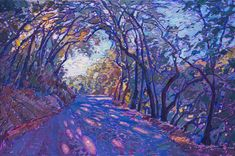 Paso Robles wine country-inspired oil painting by modern impressionist Erin Hanson. Watercolor Art Paintings, Impressionist Paintings, Oil Paintings, Painting Portraits, Oil Painting Texture, Large Painting, Painting Canvas, Landscape Art, Landscape Paintings