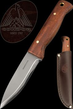 Condor Knives Bushlore Knife. Love mine, but the tip is very easy to bend. Not the knifes' fault, it was mine.