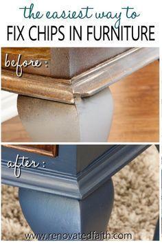 Repair Wood Furniture, Wood Repair, Laminate Furniture, Refurbished Furniture, Repurposed Furniture, Furniture Projects, Furniture Making, Furniture Makeover, Diy Furniture