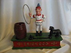 vintage mechanical cast iron bank