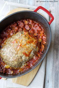 Experimente aus meiner Küche: Hackbraten mit Tomatensoße