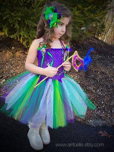 Mardi Gras Inspired Joker Jester Tutu Dress by Arribelle on Etsy