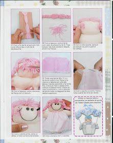 Cantinho da Titi (Moldes e riscos para artesanato): ***Revista Bonecas de Pano nº 02*** Diy Rag Dolls, Doll Sewing Patterns, Felt Dolls, Kids Rugs, Diy Crafts, Blog, Angeles, Rag Doll Patterns, Doll Outfits