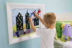 Let their imaginations soar by creating a city scene made out of fabric!