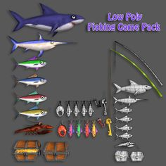 Low Poly Fishing Game Pack - 3DOcean Item for Sale