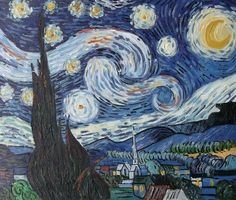 Starry Night by Vincent van Gogh (every time I see this I think of the song by Don McLean)