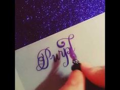 Purple Calligraphy Ink