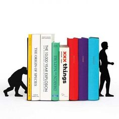 Buy Evolution Book Ends - Black from our Bookends range at Red Candy, home of quirky decor. Metal Evolution, Design3000, Reading Habits, Deco Originale, Museum Shop, Red Candy, Metal Homes, Book Lovers, Book Worms
