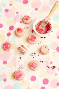 Pierre Herme's Rose Macarons by bossacafez, via Flickr