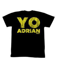 Loving this Black & Yellow 'Yo Adrian' Tee on #zulily! #zulilyfinds