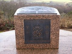 Eco-Gites of Lenault: The Battle for Lénault.  Plaque erected by the 13th/18th Hussars on Mount Pinçon.