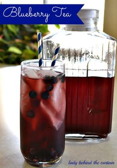 Blueberry Tea--replace tea bags with Irish Breakfast from Steeped Tea!