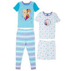 Frozen-Girls-2-piece-Pajama-Set-2-pack-Blue