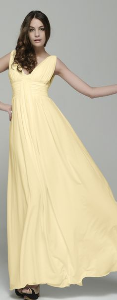 Image result for Soft Yellow Bridesmaid Dresses