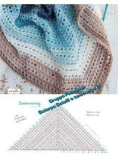 Crochet for Arke triangular scarf - Part 1 of Mystery CAL - ch . Crochet for Arke triangular scarf - Part 1 of the Mystery CAL - children products Knitting , lace processi. Crochet Shawl Free, Crochet Shawls And Wraps, Crochet Diagram, Crochet Scarves, Crochet Clothes, Crochet Stitches, Crochet Hats, Easy Crochet, Poncho Knitting Patterns