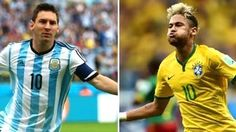 Lionel Messi Argentina and neymar jr Brazil Messi And Neymar, Lionel Messi, Messi Argentina, Soccer Players, Reign, Fifa, Brazil, Europe