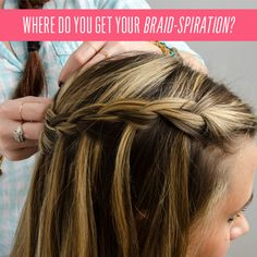 How To: Get a Gorgeous Waterfall Braid! #braid #waterfallbraid