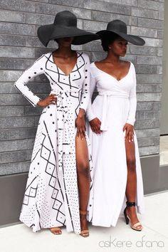 DE jurk ANYA Classic Wrap in crème en zwart