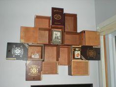 Vintage Wooden Cigar Box Curio Shelf by EternallyMessy on Etsy