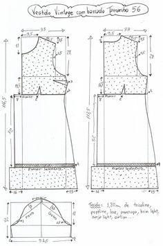 Amazing Sewing Patterns Clone Your Clothes Ideas. Enchanting Sewing Patterns Clone Your Clothes Ideas. Sewing Basics, Sewing For Beginners, Sewing Hacks, Diy Vestidos, Vestidos Vintage, Sewing Patterns Free, Clothing Patterns, Sewing Clothes, Diy Clothes