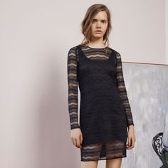 FWSS Go For Gold is a slim dress crafted from luxurious stretchy lace. Satin binding detail at neck and zipper closure at the back. Fall Winter Spring Summer, Gold And Black Dress, Going For Gold, Winter Season, Lace Dress, Satin, Closure, Zipper, Detail